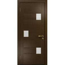 Ульяновская дверь Ронда-1 венге стекло триплекс белый