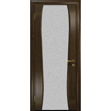 Ульяновская дверь Портелло-2 американский орех тонированный стекло триплекс белый с тканью