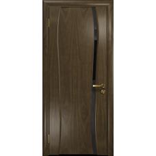 Ульяновская дверь Портелло-1 американский орех стекло триплекс черный