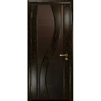 Ульяновская дверь Веста ясень венге золото стекло триплекс бронзовый