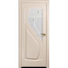 Ульяновская дверь Диона-1 дуб беленый стекло белое пескоструйное «капля»
