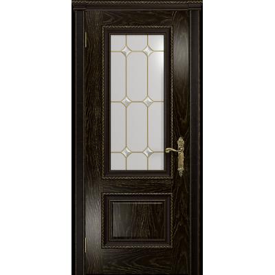 Ульяновская дверь Версаль-1 Декор ясень венге золото стекло витраж «адель»