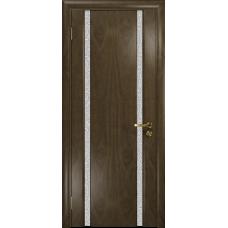Ульяновская дверь Триумф-2 американский орех стекло триплекс белый с тканью