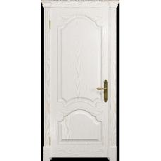 Ульяновская дверь Валенсия-1 ясень белый золото глухая