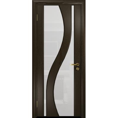 Ульяновская дверь Веста ясень венге стекло триплекс белый