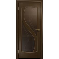 Ульяновская дверь Диона-2 венге стекло бронзовое пескоструйное «капля»