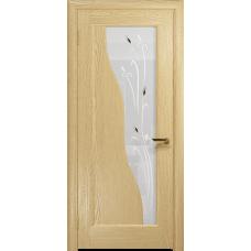 Ульяновская дверь Торино ясень ваниль стекло белое пескоструйное «рами»