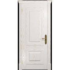Ульяновская дверь Кардинал ясень белый золото глухая