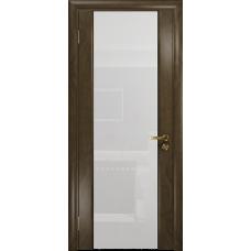 Ульяновская дверь Триумф-3 американский орех стекло триплекс белый
