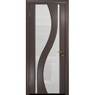 Ульяновская дверь Веста эвкалипт стекло триплекс белый