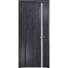 Ульяновская дверь Триумф-1 абрикос стекло триплекс белый с тканью