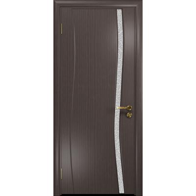 Ульяновская дверь Грация-1 эвкалипт стекло триплекс белый с тканью