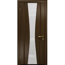 Ульяновская дверь Соната-2 венге стекло триплекс белый