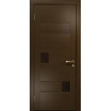 Ульяновская дверь Ронда-1 венге стекло триплекс бронзовый