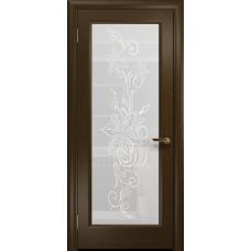 Ульяновская дверь Миланика-1 венге стекло белое пескоструйное «миланика-1»