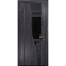 Ульяновская дверь Торелло абрикос стекло триплекс черный