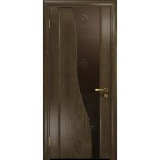 Ульяновская дверь Торелло американский орех стекло триплекс бронзовый «вьюнок» глянцевый