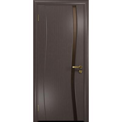 Ульяновская дверь Грация-1 эвкалипт стекло триплекс бронзовый