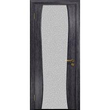 Ульяновская дверь Портелло-2 абрикос стекло триплекс белый с тканью