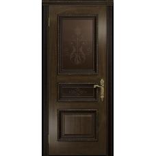 Ульяновская дверь Версаль-2 Декор американский орех тонированный стекло бронзовое пескоструйное «версаль-2»