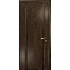Ульяновская дверь Триумф-2 американский орех тонированный стекло триплекс бронзовый «вьюнок» глянцевый