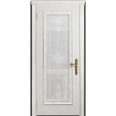 Ульяновская дверь Версаль-5 Декор ясень белый стекло белое пескоструйное «валенсия»