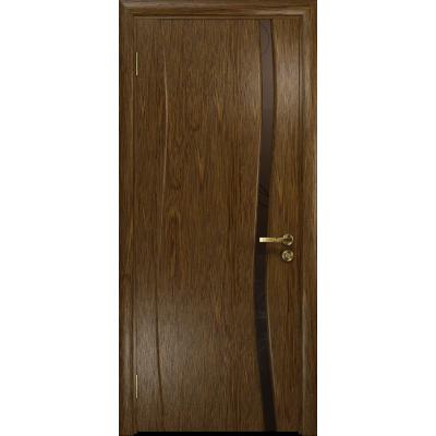 Ульяновская дверь Грация-1 сукупира стекло триплекс бронзовый «вьюнок» матовый