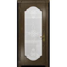 Ульяновская дверь Валенсия-2 американский орех стекло белое пескоструйное «валенсия»