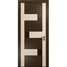 Ульяновская дверь Ронда-2 венге/дуб беленый стекло триплекс бронзовый
