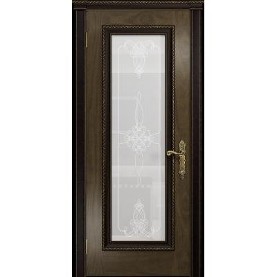 Ульяновская дверь Версаль-5 Декор американский орех стекло белое пескоструйное «валенсия»