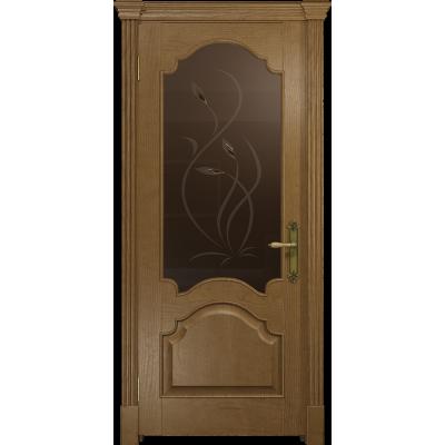 Ульяновская дверь Валенсия-1 ясень античный стекло бронзовое пескоструйное «фиор»