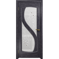 Ульяновская дверь Диона-2 абрикос стекло белое пескоструйное «лилия»
