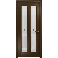 Ульяновская дверь Тесей венге стекло белое пескоструйное «ромб»