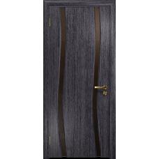 Ульяновская дверь Грация-2 абрикос стекло триплекс бронзовый «вьюнок» глянцевый