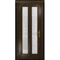 Ульяновская дверь Неаполь американский орех тонированный стекло белое пескоструйное «порта»