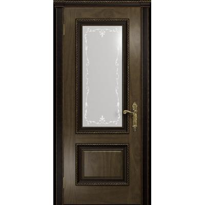 Ульяновская дверь Версаль-1 Декор американский орех стекло белое пескоструйное «версаль-1»