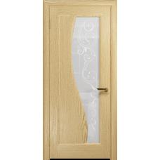 Ульяновская дверь Фрея-1 ясень ваниль стекло белое пескоструйное «сабина»