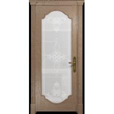 Ульяновская дверь Валенсия-2 дуб стекло белое пескоструйное «валенсия»