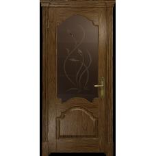 Ульяновская дверь Валенсия-1 сукупира стекло бронзовое пескоструйное «фиор»