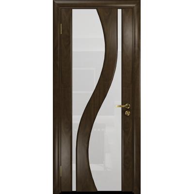 Ульяновская дверь Веста американский орех тонированный стекло триплекс белый