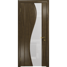 Ульяновская дверь Фрея-2 американский орех стекло триплекс белый