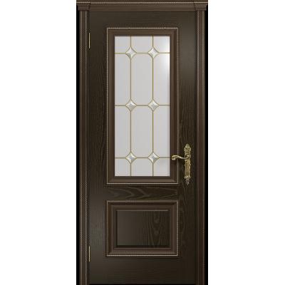 Ульяновская дверь Версаль-1 ясень венге стекло витраж «адель»