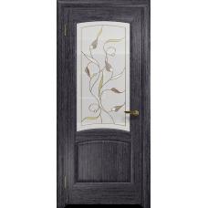 Ульяновская дверь Ровере абрикос стекло витраж «ангел»