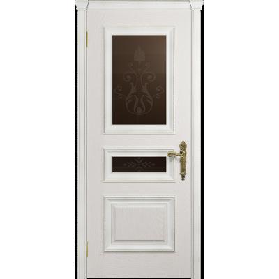Ульяновская дверь Версаль-2 Декор ясень белый стекло бронзовое пескоструйное «версаль-2»