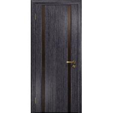 Ульяновская дверь Триумф-2 абрикос стекло триплекс бронзовый «вьюнок» глянцевый