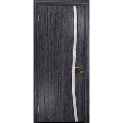 Ульяновская дверь Грация-1 абрикос стекло триплекс белый 3d «куб»