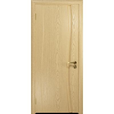 Ульяновская дверь Грация-1 ясень ваниль глухая