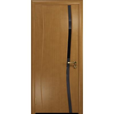 Ульяновская дверь Грация-1 анегри стекло триплекс черный