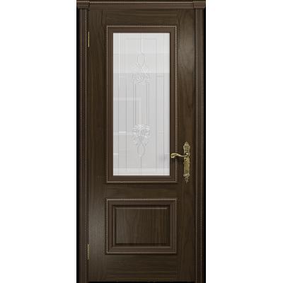Ульяновская дверь Версаль-1 американский орех стекло белое пескоструйное «кардинал»