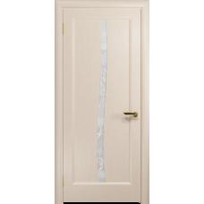 Ульяновская дверь Миланика-3 дуб беленый стекло белое пескоструйное «миланика-3»